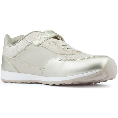 Shoes Girl Low top trainers Geox JOCKER PLUS GIRL shoes BEIGE