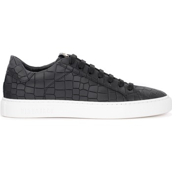 Shoes Men Low top trainers Hide&jack Hide & Jack Croco sneaker in black leather with crocodile Black