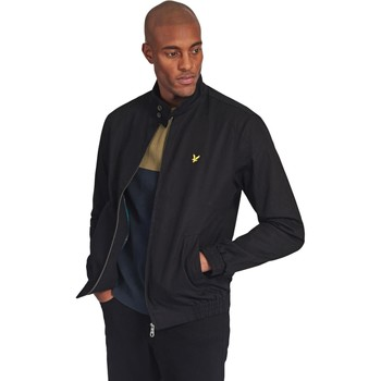Clothing Men Track tops Lyle & Scott Harrington Jacket Black