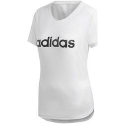 Clothing Women Short-sleeved t-shirts adidas Originals D2M Logo Tee White