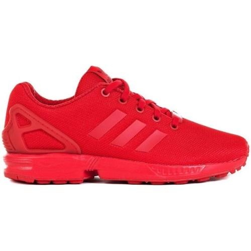 Shoes Children Low top trainers adidas Originals ZX Flux J Red