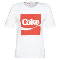 Clothing Women Short-sleeved t-shirts Only ONLCOKE White