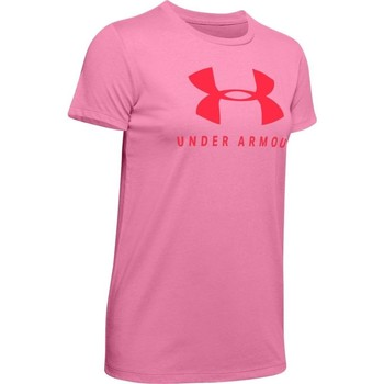 Clothing Women short-sleeved t-shirts Under Armour Graphic Sportstyle Classic Crew Pink