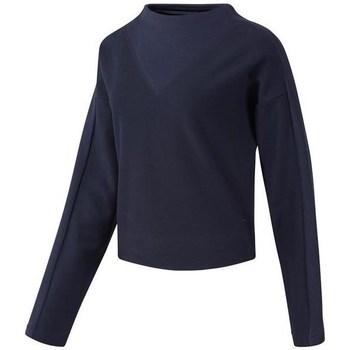 Clothing Women sweaters Reebok Sport TE Twill Cowl Neck Navy blue