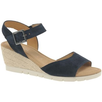 Shoes Women Sandals Gabor Nieve Womens Wedge Heel Sandals blue
