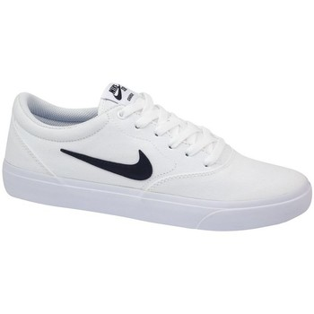 Shoes Men Low top trainers Nike SB Charge Solarsoft Textile White