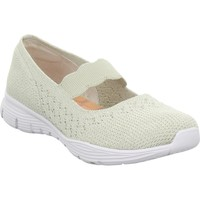 Shoes Women Derby Shoes & Brogues Skechers Seager White,Beige