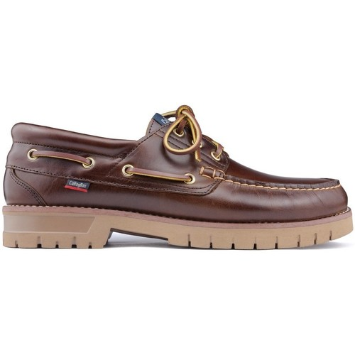 Shoes Men Boat shoes CallagHan FREEPORT Nautical Shoes BROWN