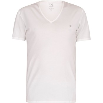 Clothing Men Short-sleeved t-shirts Calvin Klein Jeans 2 Pack CK One V-Neck T-Shirts white