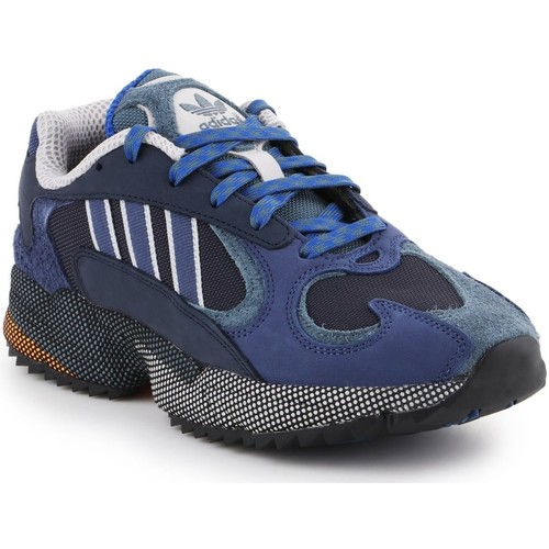 Shoes Men Low top trainers adidas Originals Adidas  Yung-1 EF5337 navy