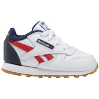 Shoes Boy Low top trainers Reebok Sport Classic Leather White,Red,Navy blue