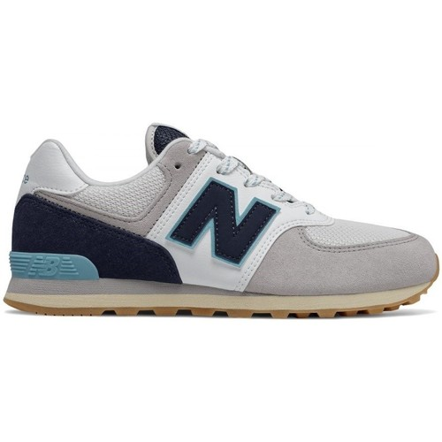 Shoes Children Low top trainers New Balance 574 Grey, Navy blue