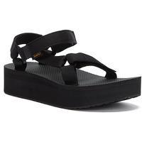 Shoes Women Sandals Teva Womens Black Flatform Universal Sandals Black