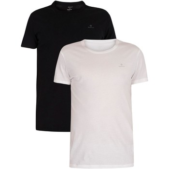 Clothing Men Short-sleeved t-shirts Gant 2 Pack Lounge Crew Neck T-Shirts black