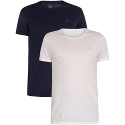 Clothing Men Short-sleeved t-shirts Gant 2 Pack Lounge Crew Neck T-Shirts blue