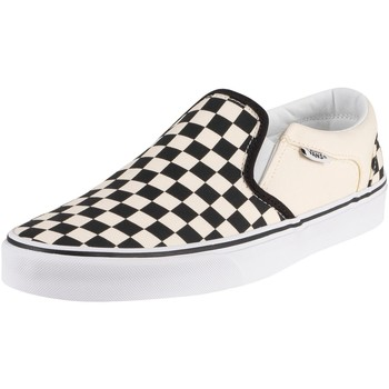 Shoes Men Trainers Vans Asher Checkerboard Trainers white