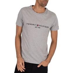 Clothing Men T-shirts & Polo shirts Tommy Hilfiger Core Logo T-Shirt grey