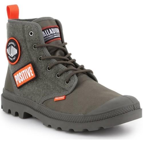 Shoes Men Hi top trainers Palladium Pampa HI Change U 76648-325-M olive green