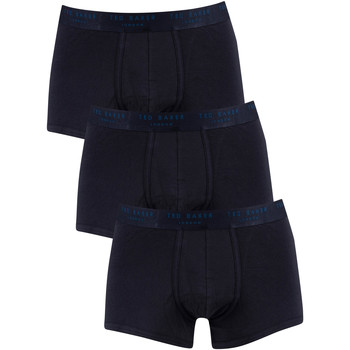 Underwear Men Boxer shorts Ted Baker 3 Pack Trunks blue