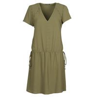 Clothing Women Short Dresses Ikks BR30015 Kaki