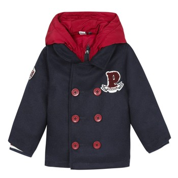 Clothing Boy Coats 3 Pommes 3R41023-04 Marine