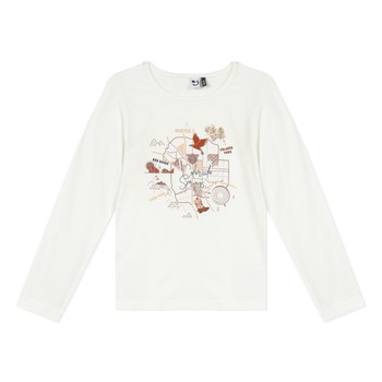 Clothing Girl Long sleeved tee-shirts 3 Pommes 3R10004-19-C White