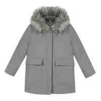 Clothing Girl Coats 3 Pommes 3R44034-220-C Grey