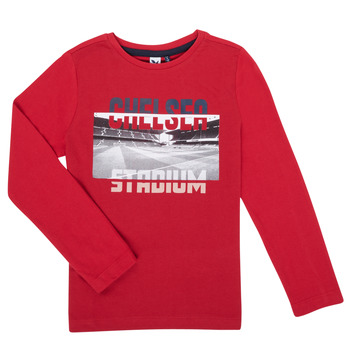 Clothing Boy Long sleeved tee-shirts 3 Pommes 3R10015-37-C Red