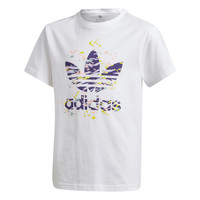 Clothing Girl Short-sleeved t-shirts adidas Originals TREF TEE White