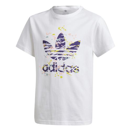 Clothing Girl Short-sleeved t-shirts adidas Originals TREF TEE White