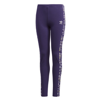 Clothing Girl Leggings adidas Originals SOLID LEGGINGS Purple
