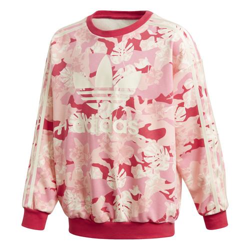 Clothing Girl Sweaters adidas Originals CREW Pink