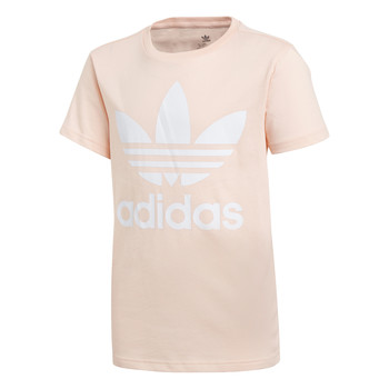 Clothing Girl Short-sleeved t-shirts adidas Originals TREFOIL TEE Pink