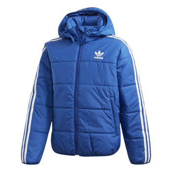 Clothing Boy Duffel coats adidas Originals PADDED JACKET Blue