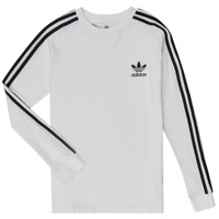 Clothing Boy Long sleeved tee-shirts adidas Originals 3STRIPES LS White