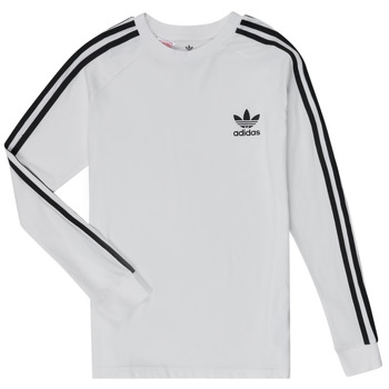Clothing Children Long sleeved tee-shirts adidas Originals 3STRIPES LS White