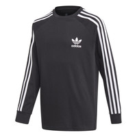Clothing Boy Long sleeved tee-shirts adidas Originals 3STRIPES LS Black