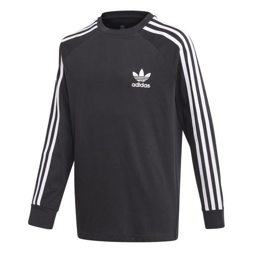 Clothing Children Long sleeved tee-shirts adidas Originals 3STRIPES LS Black