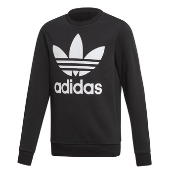 Clothing Children Sweaters adidas Originals TREFOIL CREW Black