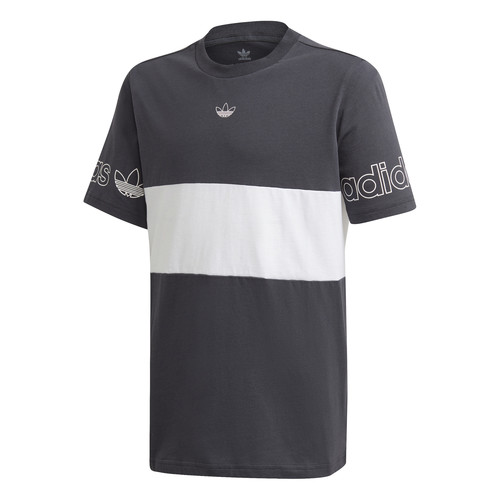 Clothing Boy Short-sleeved t-shirts adidas Originals PANEL TEE Grey / White