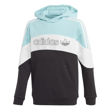 Clothing Boy Sweaters adidas Originals BX 2.0 HOODIE Blue / Grey / Black