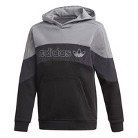Clothing Boy Sweaters adidas Originals BX 2.0 HOODIE Grey / Black