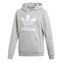Clothing Boy Sweaters adidas Originals TREFOIL HOODIE Grey