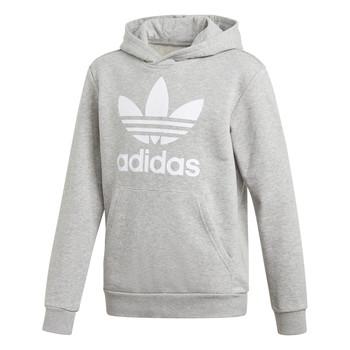 Clothing Children Sweaters adidas Originals TREFOIL HOODIE Grey