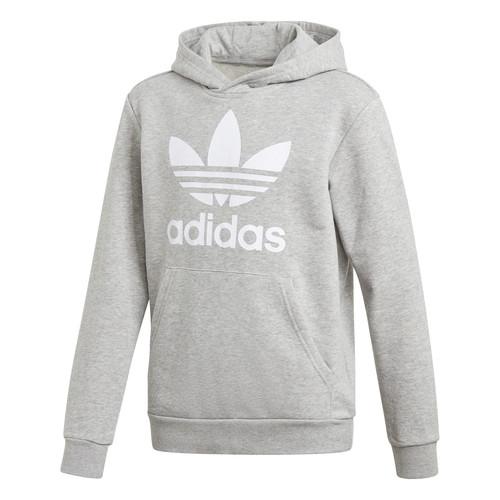 Clothing Children Sweaters adidas Originals TREFOIL HOODIE Grey