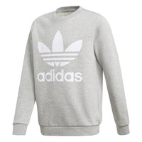 Clothing Boy Sweaters adidas Originals TREFOIL CREW Grey