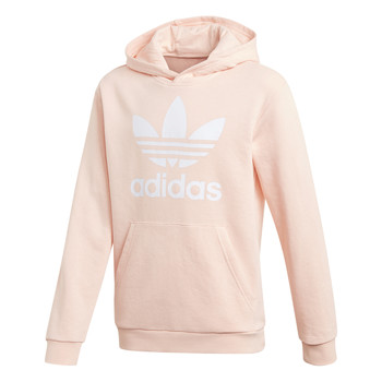Clothing Girl sweaters adidas Originals TREFOIL HOODIE Pink