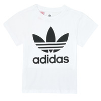 Clothing Children Short-sleeved t-shirts adidas Originals TREFOIL TEE White