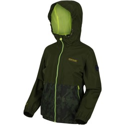 Clothing Children Coats Regatta HASKEL Waterproof Shell Jacket Green