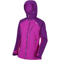 Clothing Women Coats Regatta Birchdale Waterproof Hooded Walking Jacket Purple Purple